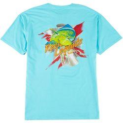Reel Legends Mens Short Sleeve Dolphin Legend T-Shirt