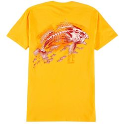 Reel Legends Mens Redfish Skeleton T-Shirt