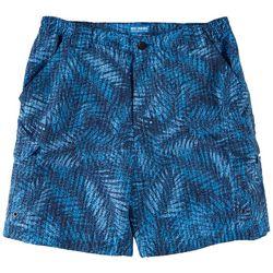 Reel Legends Mens Bonefish Spotted Palm Fronds Print Shorts