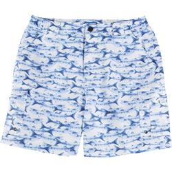 Mens Bonefish Barracuda Print Shorts