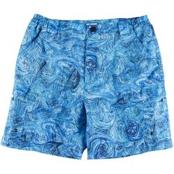 Reel Legends Mens Bonefish Underwater Marble Print Shorts