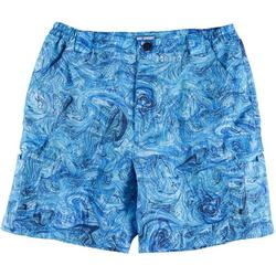 Mens Bonefish Underwater Marble Print Shorts