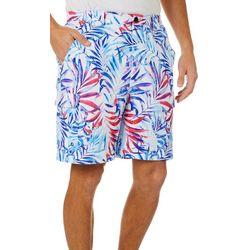 Reel Legends Mens Bonefish Splat Palm Shorts
