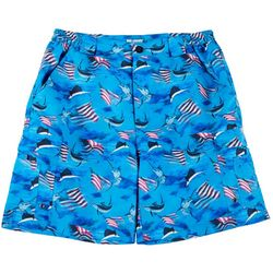 Reel Legends Mens Bonefish Patriotic Fish Shorts
