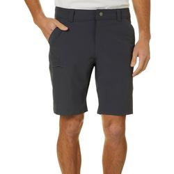 Mens Solid Cargo Shorts