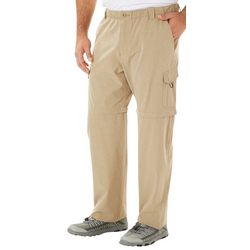Reel Legends Mens Mackerel Heathered Convertible Pants