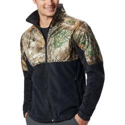Columbia Mens PHG Camo Colorblocked Fleece Jacket
