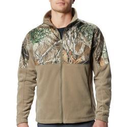 Mens PHG Camo Overlay Quarter Zip Fleece Jacket