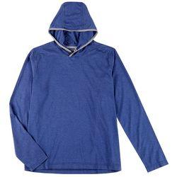 Hi-Tec Mens Long Sleeve Solid Bluff Head Jersey Hoodie