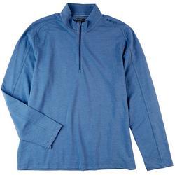 Mens Solid Gourd Solid Quarter Zip Performance Shirt