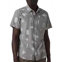 Mens Roots Studio Button Down Short Sleeve Shirt
