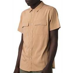 Prana Mens Garvan Button Down Short Sleeve Shirt