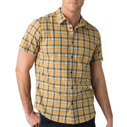 Mens Bryner Plaid Short Sleeve Button Down Shirt