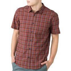 Prana Mens Bryner Plaid Short Sleeve Shirt