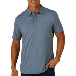 Mens Heathered Performance Polo Shirt