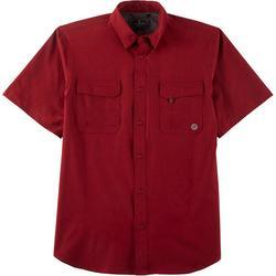 Mens Heathered Short Sleeve Shirt