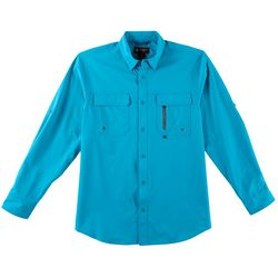 Flatwood Threads Mens Solid Long Sleeve Shirt