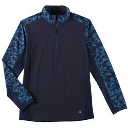 Flatwood Threads Mens Camo Quarter Zip Pullover