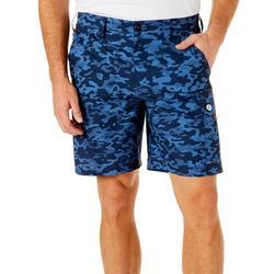 Mens Camo Ripstop Cargo Shorts