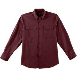 Mens Heathered Long Sleeve Shirt