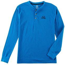 Realtree Mens Thermal Henley Long Sleeve T-Shirt