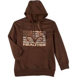 RealTree Mens Logo Flag Long Sleeve Hoodie