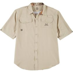Realtree Mens Short Sleeve Cape Vent  Poly Woven Shirt