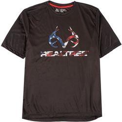RealTree Mens Short Sleeve Logo Flag T-Shirt