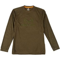 RealTree Mens Logo Long Sleeve Shirt