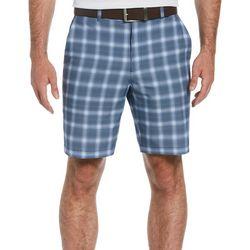 PGA TOUR Mens Energy Plaid Print Shorts