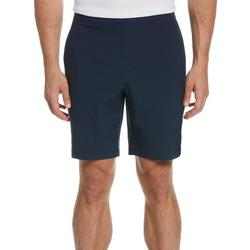 Mens Exposed Elastic Waistband Dobby Golf Shorts