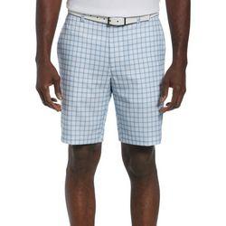 PGA TOUR Mens Plaid Shorts