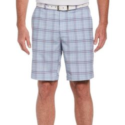 PGA TOUR Mens Plaid Print Shorts