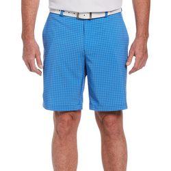 PGA TOUR Mens Tonal Plaid Print Shorts