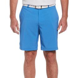 Mens Tonal Plaid Print Shorts