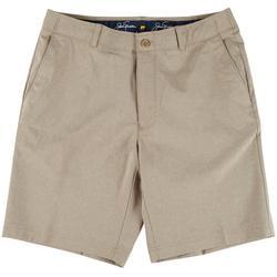 Mens Heathered Print Shorts
