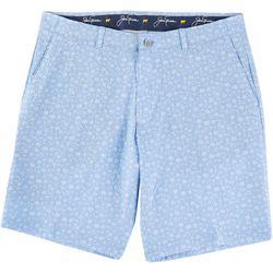 Jack Nicklaus Mens Palm Print Seersucker Shorts