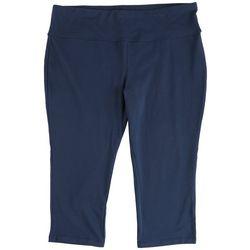 Spalding Plus Solid High Waist Capri Leggings