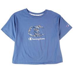 Plus Classic Champion Cropped Logo T-Shirt