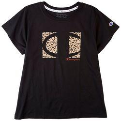 Champion Plus Classic Champion Animal Print Logo T-Shirt