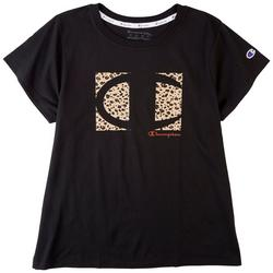 Plus Classic Champion Animal Print Logo T-Shirt