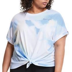 Plus Champion Tie-Dye Tie Front T-Shirt