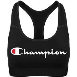 Plus Absolute Workout Logo Print Sports Bra