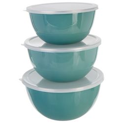 Key Lime Lexi 3-pc. Mixing Bowls With Lids Set