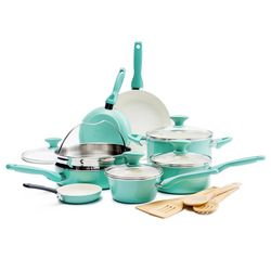 GreenPan Rio 16pc. Ceramic Cookware Set