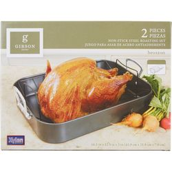 2-pc. Non-Stick Steel Roasting Set