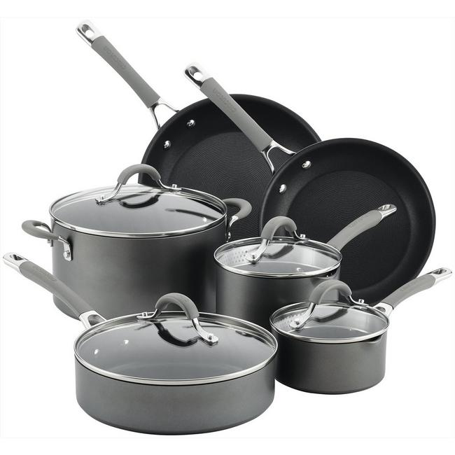 10-Piece Circulon Elementum Hard-Anodized Nonstick Pots & Pans Set
