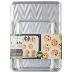Nordic Ware 2-pc. Prism Textured Aluminum Baker's Bundle Set