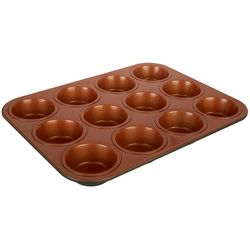 IKO 12 Cup Copper Muffin Pan
