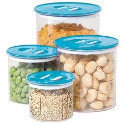 4-pc. Round Stack-N-Store Canister Set